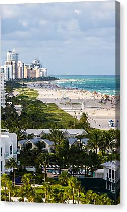 South Beach Late Afternoon Canvas Print by Ed Gleichman