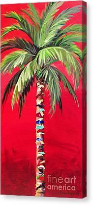 South Beach Palm II Canvas Print