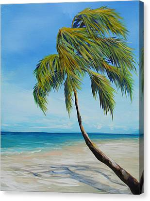 South Beach Palm Canvas Print by Michele Hollister - for Nancy Asbell