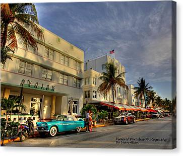 South Beach Park Central Hotel Canvas Print by Sean Allen