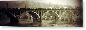 White Frame House Canvas Print - South Bridge  by The Artist Project