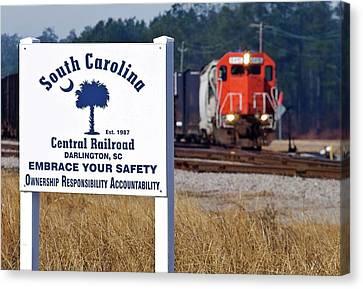 South Carolina Central Railroad 2010 A Canvas Print by Joseph C Hinson Photography