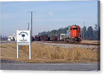 South Carolina Central Railroad 2010 B Canvas Print by Joseph C Hinson Photography