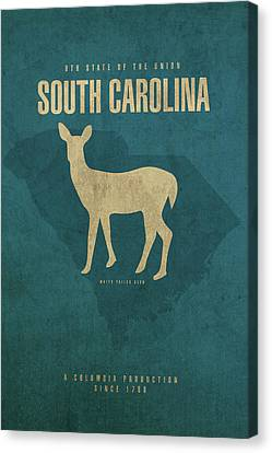 Movie Poster Canvas Print - South Carolina State Facts Minimalist Movie Poster Art by Design Turnpike