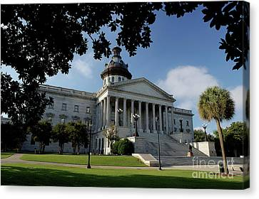 South Carolina State House 2 Canvas Print by Michael Eingle
