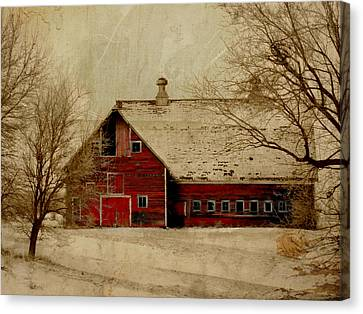 South Dakota Barn Canvas Print by Julie Hamilton