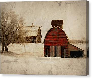 South Dakota Corn Crib Canvas Print by Julie Hamilton