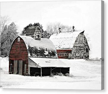 South Dakota Farm Canvas Print by Julie Hamilton