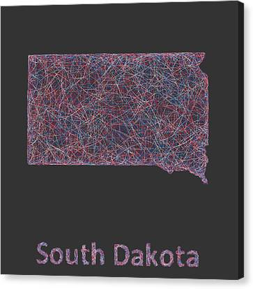 South Dakota Map Canvas Print by David Zydd
