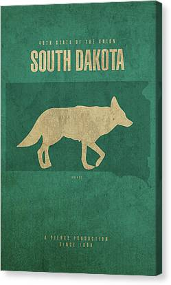 South Dakota State Facts Minimalist Movie Poster Art Canvas Print by Design Turnpike