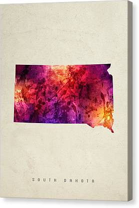 South Dakota State Map 05 Canvas Print