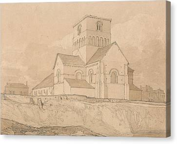South-east View Of The Church Of Lery Canvas Print by John Sell Cotman