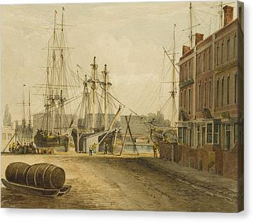 South End Of Prince's Street Canvas Print by Thomas Leeson the Elder Rowbotham