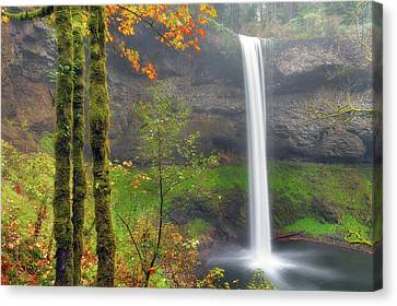 South Falls On A Drizzly Day Canvas Print by David Gn