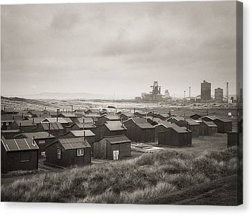 South Gare Teeside Fishing Huts Canvas Print by Ian Barber