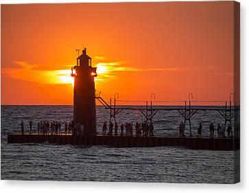 South Haven Michigan Sunset Canvas Print