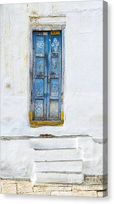 Bolts Canvas Print - South Indian Door by Tim Gainey