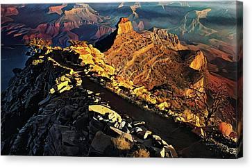 South Kaibab Trail - Grand Canyon Canvas Print by Russ Harris