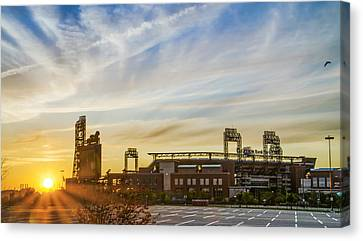 South Philly Sunrise - Citizens Bank Park Canvas Print by Bill Cannon