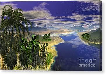 South Sea Mountain. Canvas Print by Heinz G Mielke
