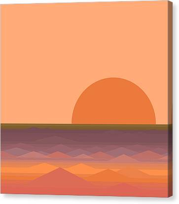 Canvas Print featuring the digital art South Sea Sunrise by Val Arie