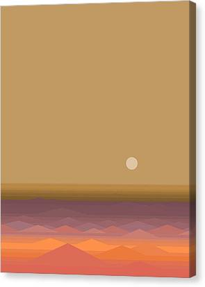 Canvas Print featuring the digital art South Seas Sunrise - Vertical by Val Arie