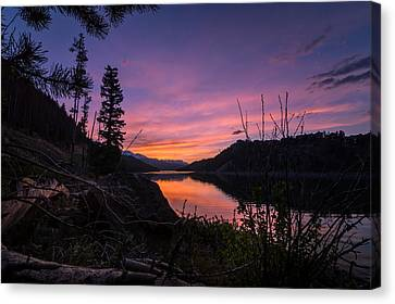 South Shore Lake Dillon Sunset Canvas Print by Michael J Bauer