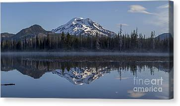 South Sister At Sunrise Over Sparks Lake Canvas Print