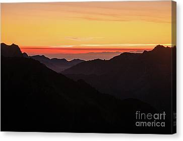 South Sound Sunset Layers Canvas Print by Mike Reid