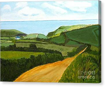 South West England Countryside Cotswold Area Canvas Print by Rod Jellison