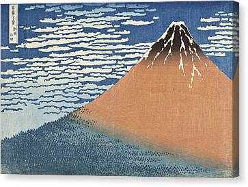 South Wind Clear Dawn Canvas Print by Katsushika Hokusai