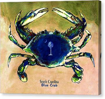 Southcarolina Blue Crab Canvas Print by Eddie Glass
