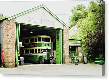 Old Bus Stations Canvas Print - Southdown Bus by Angela Aird