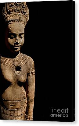 Canvas Print featuring the photograph Southeast Asian Spiritual Statue - Cambodia by Louise Fahy