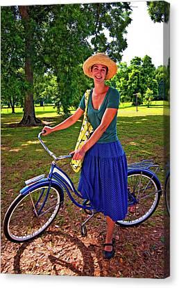 Evergreen Plantation Canvas Print - Southern Belle Oil by Steve Harrington