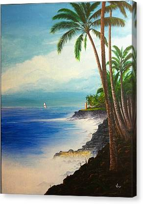 Canvas Print featuring the painting Southern Breeze by Mike Ivey