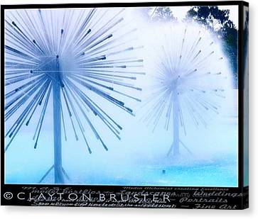 Clayton Canvas Print - Southern California Fountains by Clayton Bruster