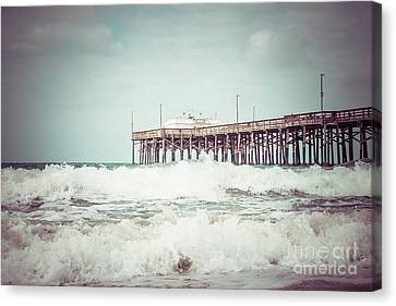 Southern California Pier Vintage 1950s Picture Canvas Print by Paul Velgos