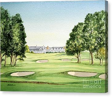 Southern Hills Golf Course 18th Hole Canvas Print by Bill Holkham