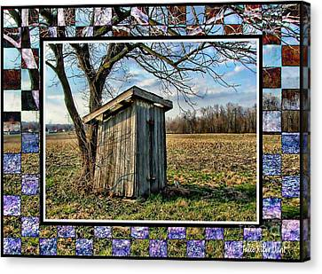 Indiana Scenes Canvas Print - Southern Indiana Outhouse by Julie Dant