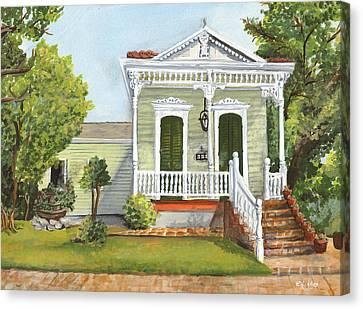 Southern Louisiana Charm Canvas Print by Elaine Hodges