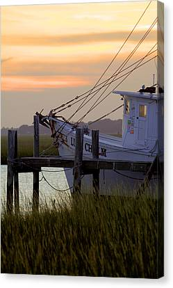 Southern Shrimp Boat Sunset Canvas Print by Dustin K Ryan