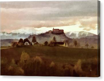 Southern Styria With Castle Riegersburg Canvas Print