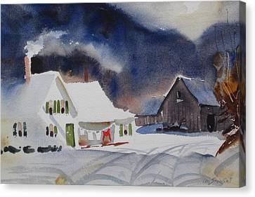 Southern Vermont Back Road Canvas Print by Len Stomski