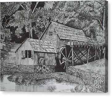 Southern Watermill Canvas Print by Chris Shepherd