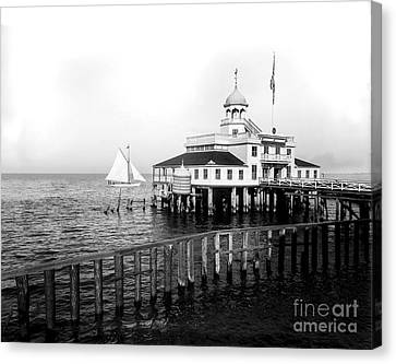 Southern Yacht Club  New Orleans Ca 1890 Canvas Print by Jon Neidert