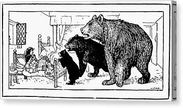 Goldilocks Canvas Print - Southey: Three Bears, 1892 by Granger