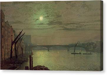 Southwark Bridge Canvas Print by John Atkinson Grimshaw