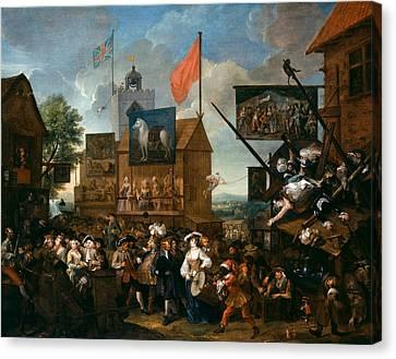 Hogarth Canvas Print - Southwark Fair by William Hogarth
