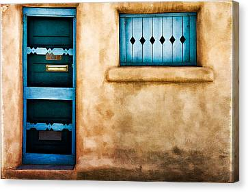 Screen Doors Canvas Print - Southwest Blues by Lana Trussell